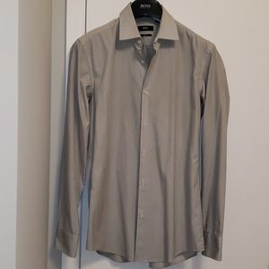 Men's Hugo Boss Slim Fit Grey Dress Shirt 38/15